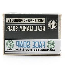 WSP Men's Face Soap Bar w/ Activated Charcoal, Tea Tree & La