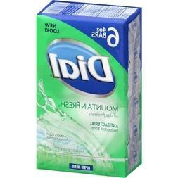 Dial Mountain Fresh Antibacterial Deodorant Soap, 4 oz, 6 co