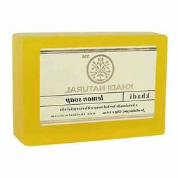 Khadi Natural Herbal Lemon Soap Handmade Bathing Bar 125gm