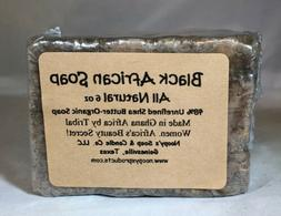 Natural Raw BLACK AFRICAN SOAP w/ Shea Butter-AFRICAN 6 oz B