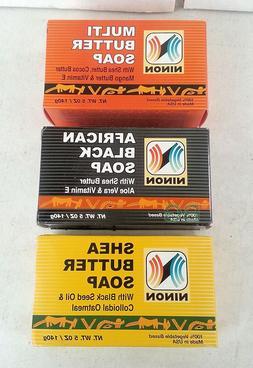 Ninon Soap Combo Shea Butter African Black Multi Butter 5 oz
