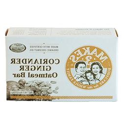 Makes 3 Organics Oatmeal Organic Bar Soap, Coriander Ginger,