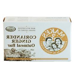Makes 3 Organics Oatmeal Organic Bar Soap, Coriander Ginger,
