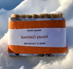 Oatmeal Honey Organic handmade soap bars