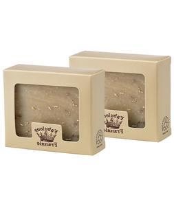 Oatmeal  Herbal Soap Bar All Natural 2pk/4oz Bars