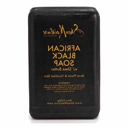 Shea Moisture Organic African Black Soap Bar with Shea Butte