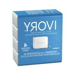 IVORY Original Scent Bar Soap DISCONTINUED 4 oz, 4 bars