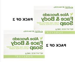 PACK OF 2 Forever Aloe Avocado Face & Body Soap - Free Shipp