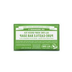 Dr Bronners Pure Castile Bar Soap  Green Tea 140g - vegan