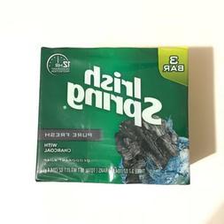 Irish Spring Pure Fresh With Charcoal Deodorant Soap 3.7 oz