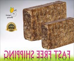 Pure Raw African BLACK SOAP Organic From GHANA - Premium Qua
