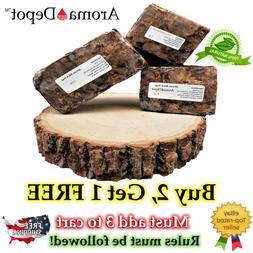 Raw African Black Soap BAR Organic Unrefined 100% Natural Ba