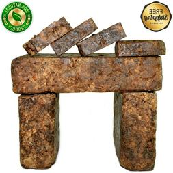 Raw African Black Soap Organic 4 oz Bar 100% Pure Unrefined