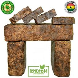 Raw African Black Soap Organic 100% Pure From Ghana 2 oz - 5