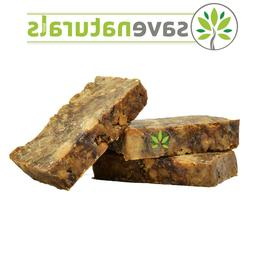 Raw African Black Soap Organic 4 oz Bar 100% Pure From Ghana