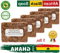 Raw African Black Soap Organic 5 lb 100% Pure Imported From