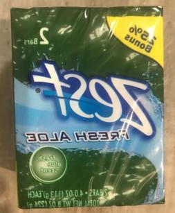Zest Refreshing Bars, Aloe Scent  1 Pack 2 Bars 4.0 Oz - 25%