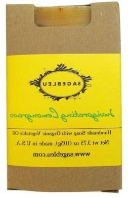 Sagebleu Organic Bar Soap - Invigorating Lemongrass, ALL NAT