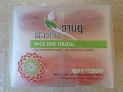 Pure Selects Glycerin Variety Pack Luxury Bar Soap - NEW PAC