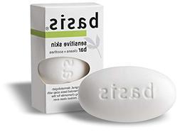 Basis Sensitive Skin Bar Soap Cleanns Plus Smoothes, 4 oz