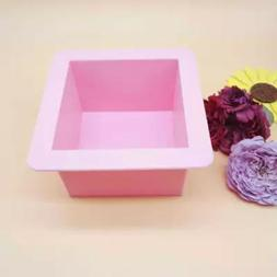 Silicone Large Cube Square Soap Candle Cake Jello Lotion Bar