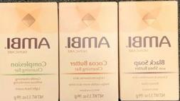 Ambi Soap 3pcs Set Black Soap Shea Butter, Cocoa Butter,Comp