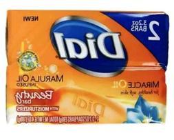 Dial Soap Bar 3.2 oz Bars 2pk of 2  Marula Oil Bundle