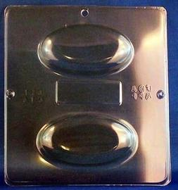 Soap Bar Mold Large Domed Oval 2 Cavity