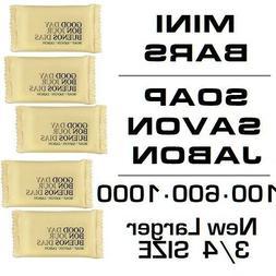 Mini Soap Travel/Hotel Wrapped Small Hand Bars - USA - Bulk