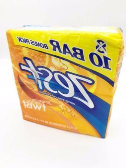 Zest Tangerine Mango Twist Deodorant Bar Soap 10 Pack Ten Ba
