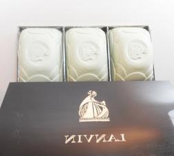 Vintage Highly Scented LANVIN Perfumed Bar Soap 3 in Case La