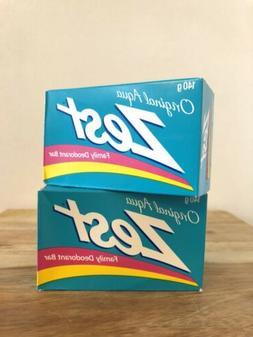 VTG Zest Bar Soap 2 Boxes NEW 140g Family Deodorant Bar Orig